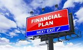 Financial Plan on Red Billboard.