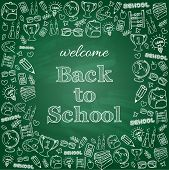 Welcome back to school card.