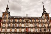 Plaza Mayor Cityscape Towers Madrid Spain