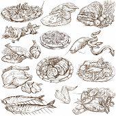 Food Around The World, An Hand Drawn Illustration