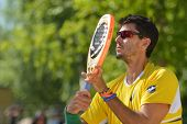 MOSCOW, RUSSIA - JULY 20, 2014: Marcus Ferreira of Brazil in the final match against Italy during IT