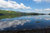 Beautiful lake Derwent Water The Lakes National Park Cumbria England uk near Keswick
