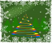 Vector abstract Christmas background