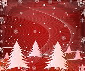 Abstract winter vector background illustration