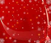 Abstract vector winter Christmas background