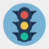 Vector traffic lights icon