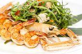 salad of shrimp and crawfish
