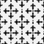 Vintage gothic embroidery seamless pattern