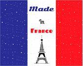 Black Eiffel tower, France flag