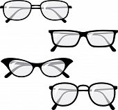 Eyeglasses - Vector illustrations