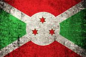 stock photo of burundi  - Grunge Burundi Flag painted on wood background - JPG