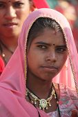 Beautiful Indian Girl With A Pink Veil