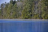 blue ice on lake