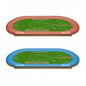 Athletics Field 3D Perspective