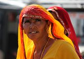 Indian Woman At Pushkar Fair