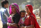 Indian family At Pushkar Fair