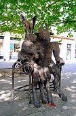 Hare and Minotaur statue, Cheltenham.