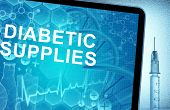 the words Diabetic Supplies on a tablet