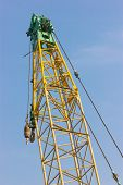 Close Up Of Construction Crane.