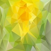 Vector Polygonal Background - Triangular Design In Spring Color