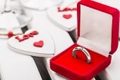 Red box with ring