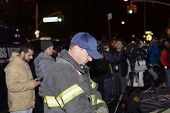 FDNY firefighter at memorial