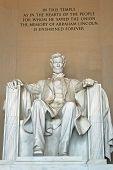 Abraham Lincoln statue in the Lincoln Memorial