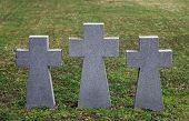 ZAGREB, CROATIA - APRIL 29: German Military Graves, Mirogoj cemetery in Zagreb, Croatia on April 29, 2012.