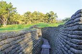 picture of battlefield  - The trenches on battlefield of Vimy ridge France - JPG
