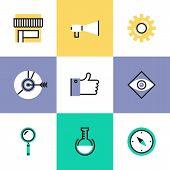 Digital Marketing Pictogram Icons Set