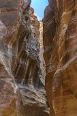 The Siq In Petra, Jordan
