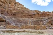 Roman Theater Arena In Nabatean City Of Petra