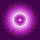 Ornamental Geometric Hand-drawing Bright Purple Spectral Colored Vector Background