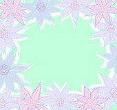 Pastel flowers frame