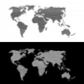 vector fuzzily linear world map