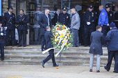 Wreath carried into Aievoli Funeral Home