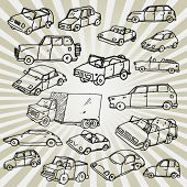 Funny Cars Doodles