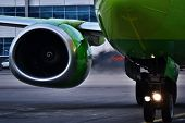 Operating turbine aircraft Boeing 737-800