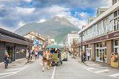 Yufuin November 29 : The Main Shopping Street Of Yufuin In Oita,japan On November 29, 2014.