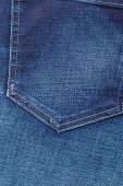 picture of denim jeans  - closeup detail of blue denim jeans trouses pocket texture background - JPG