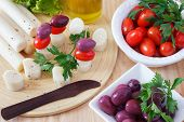 picture of black-cherry  - Cooking canape of Heart of palm  - JPG