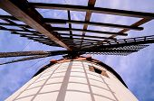 stock photo of canary  - Vintage Wind Mill in Gran Canaria Canary Islands Spain - JPG