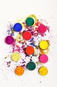image of holi  - Vivid Indian Holi festival colours  - JPG