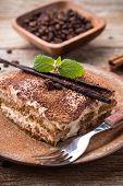 stock photo of flavor  - Tiramisu cake popular coffee - JPG