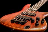 picture of low-necked  - Bass guitar body view  - JPG