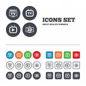 stock photo of squares  - Smart 3D TV mode icon - JPG