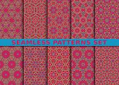 pic of ten  - Beautiful geometric seamless patterns set - JPG