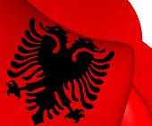 image of albania  - 3D Flag of the Albania - JPG