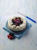 picture of ice-cake  - ice cream cake with mix berries - JPG