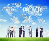 image of coworkers  - Coorperation Business Coworker Planning Teamwork Concept - JPG